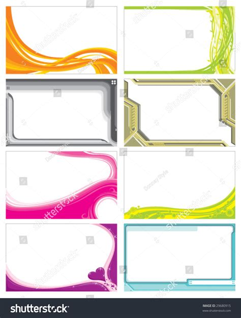 card vector template name card template stock vector 29680915