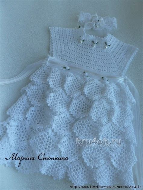 free pattern newborn dress mesh ruffles baby dress free crochet pattern crochet kingdom