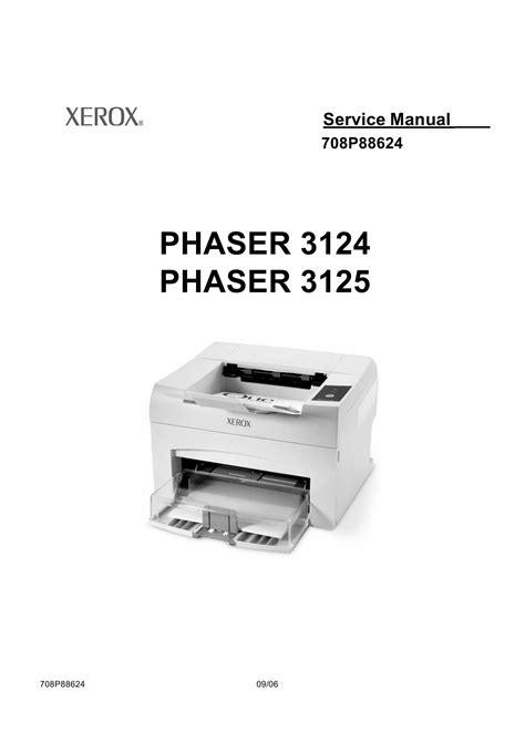 resetter printer xerox phaser 3124 xerox phaser 3124 3125 parts list and service manual