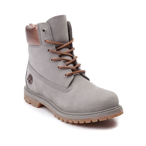 timberland boat shoes female womens timberland 6 premium luxe boot gray 538587