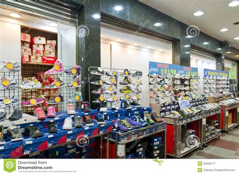 sport shoes store sport shoe shop at fengjia market editorial photo