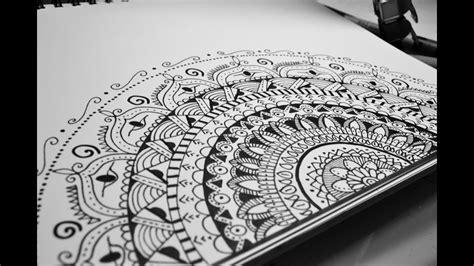 Doodle Zentangle Mandala Step By Step
