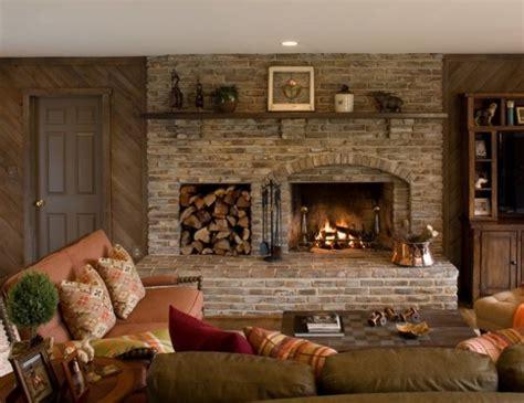 astounding brick fireplace designs