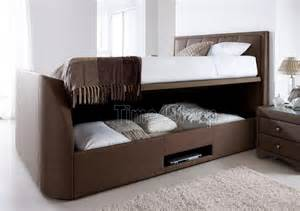 Footboard With Tv by Tv Bed Cappuccino By Kaydian The Windermere Upholstered