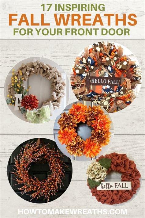 inspiring fall wreaths   front door