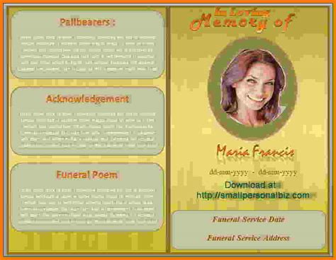 free funeral program templates best resumes
