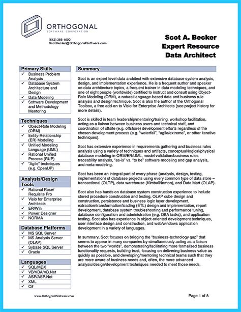 Resume Format For Business Analyst by Formula To Make Interesting Business Intelligence Resume