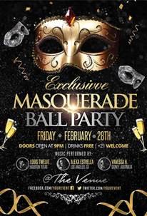 masquerade poster template flyer exles free premium templates