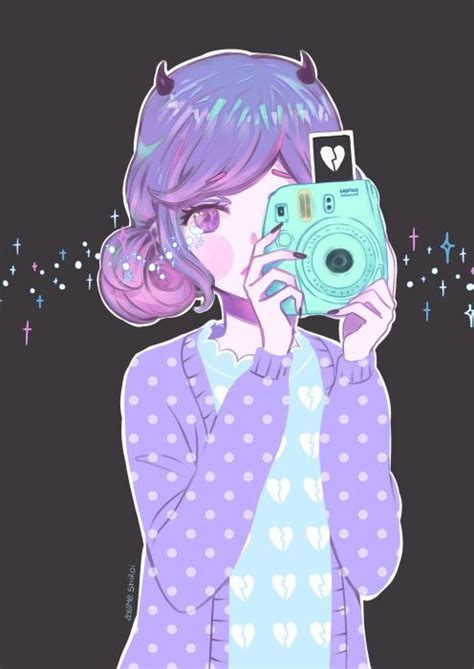 purple hair happy or crappy randomness it s best 127 best images about pastel goth art on pinterest chibi