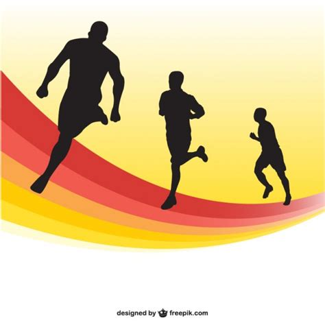 Pista Color by Running Race Silhouettes Background Vector Free Download