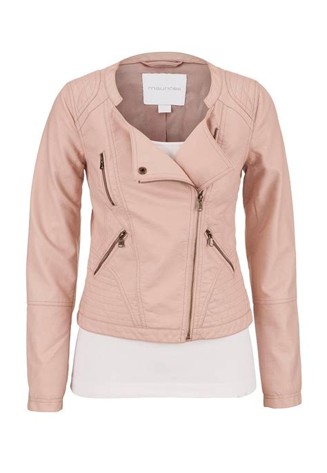 Popular Home Decor Stores blush assymmetrical zip faux leather from maurices jackets