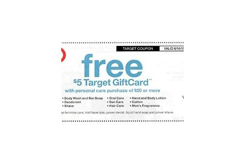 target personal care coupon text