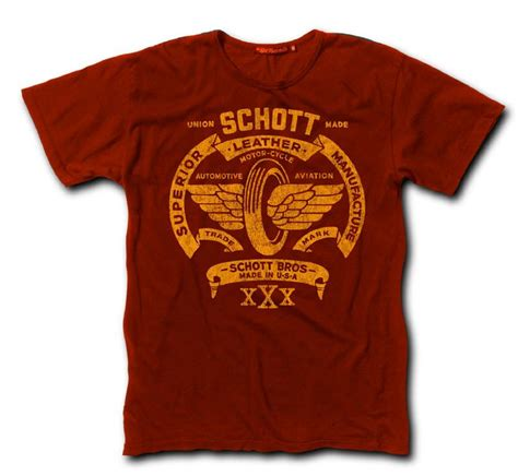 Famo 521091712ab T Shirt schott flying tire logo tees headwear nyc logos and awesome