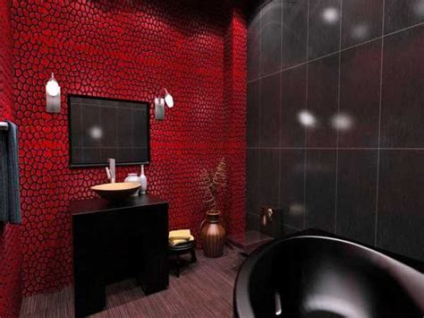 black and red bathroom ideas la salle de bain change de couleur bricobistro