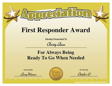 funny awards for employees templates first responder award work pinterest search kid and
