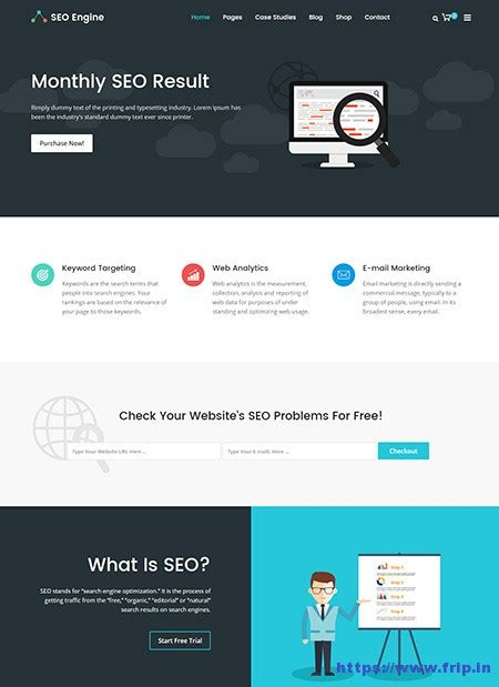 Seo Email Template 30 Best Seo Website Templates For Seo Companies Agency
