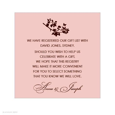 bridal shower gift registry insert wording   Google Search
