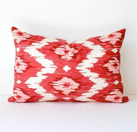 ikat modern decorative designer lumbar pillow by whitlock