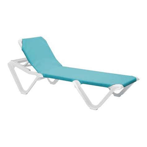 turquoise chaise grosfillex 99101241 nautical turquoise white chaise lounge