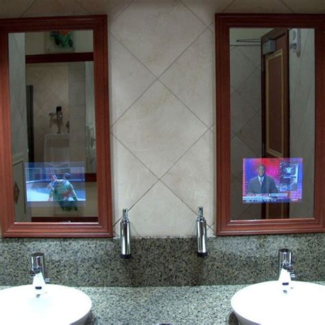 bathroom tv mirror bathroom mirrors with built in tvs