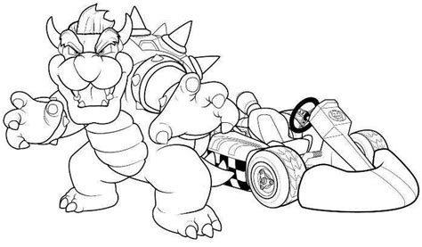 Mario Kart Coloring Pages Coloring Pages Bowser Mario Mario Kart 7 Coloring Pages