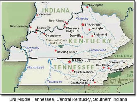 kentucky indiana map map of kentucky and indiana images