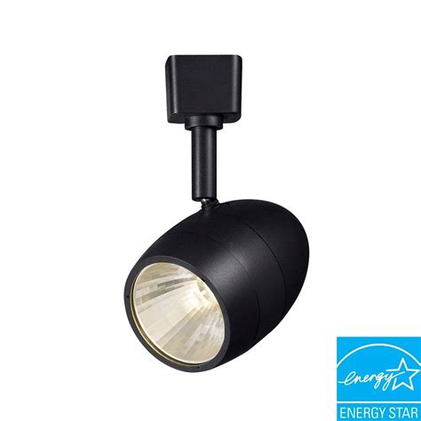 hton bay halogen track lighting fixture hton bay 2 56 in 1 light black dimmable led track lighting 16031kit1 bk the home depot