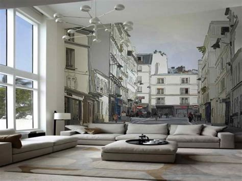 wall murals for room 16 wall murals that bring a new dimension to your living room top inspirations