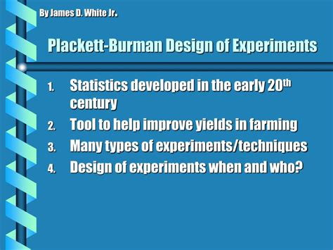 design of experiment software free download ppt plackett burman design of experiments powerpoint