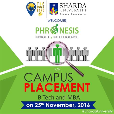 Sharda Mba Placement by Recruitment Drive Of Quot Phronesis Parteners Pvt Ltd Quot On