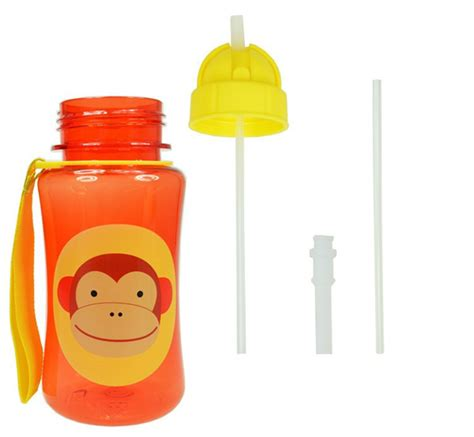 Water Bottle With Straw Animal Mixer baby kid lovely zoo animal straw cup water bottle non toxic bpa free cup alex nld