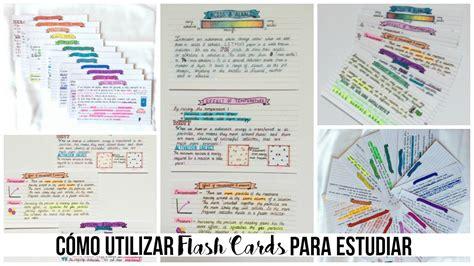 como estudiar como estudiar como estudiar con flash cards beatriz lavega youtube
