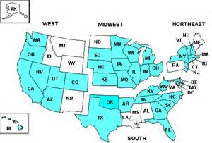 us map broken by regions hcup nationwide inpatient sle design report 2005