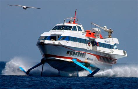 speed boat meaning here is a modern hydrofoil quot aliscafo quot passenger boat seen