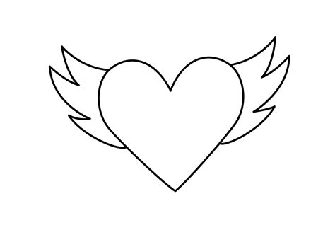 coloring pages heart with wings best free hearts with wings coloring pages pictures free