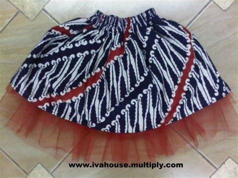 Supplier Baju Deeja Batik Coklat Dress Hq jual batik tutu skirt rok batik tutu ceriwis