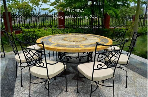 Marble Top Patio Table 49 Quot Outdoor Patio Garden Table Mosaic Marble Florida