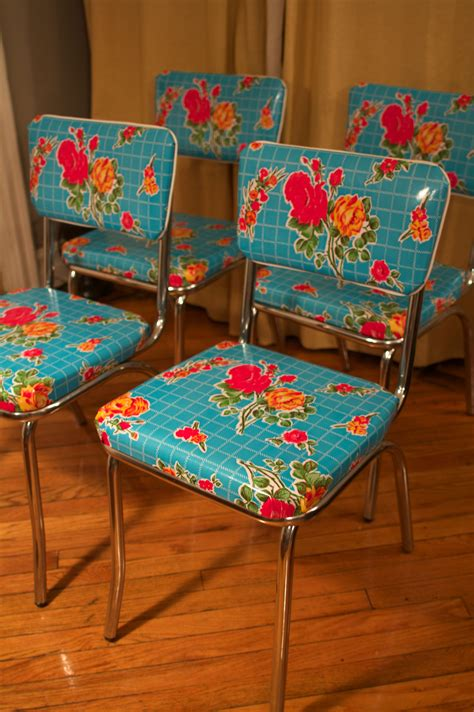 vintage pattern oilcloth gorgeous oilcloth covered kitchen chairs vintage