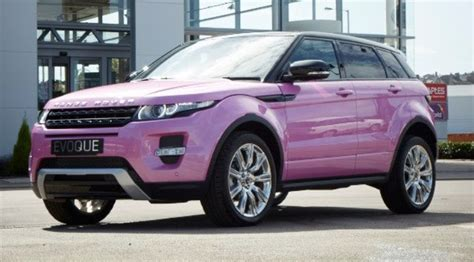range rover pink and black pink range rover evoque to celebrate car s success