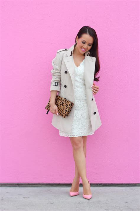 Lust It Taylors Lace Trench by Scalloped Lace Dress Burberry Trench And Gum Pink