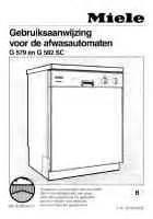 Miele G575 Dishwasher Service Manual Miele G579 Geschirrsp 252 Ler Herunterladen