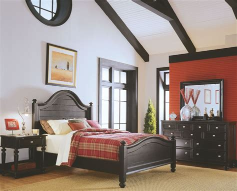 camden bedroom furniture camden black panel bedroom set from american drew 919