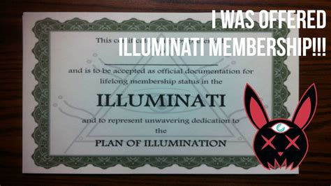 illuminati membership i was offered illuminati membership