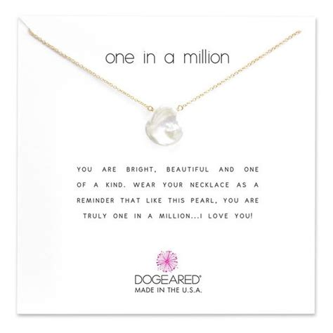 dogeared reminder one in a million keshi pearl pendant