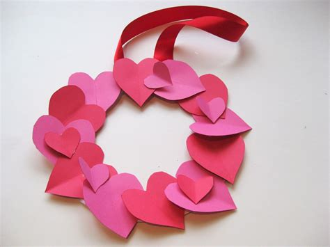 easy valentines crafts crafts for wreath