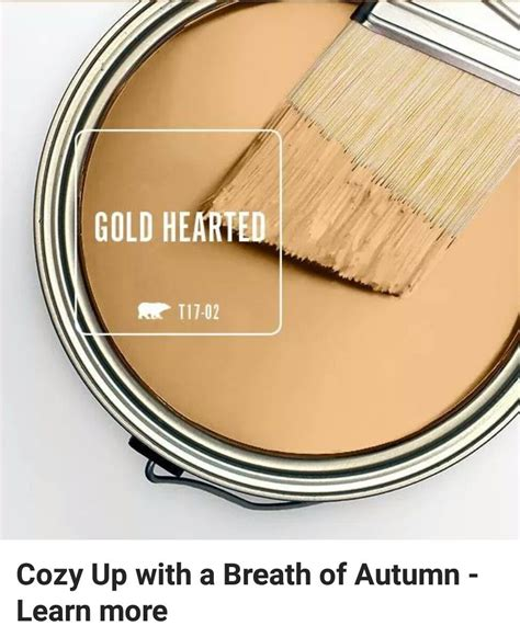 color of the month gold hearted behr gold and house