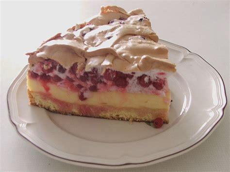 baiser kuchen johannisbeer pudding baiser kuchen rezept mit bild