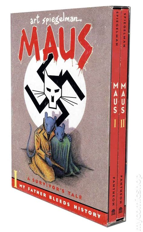maus books maus a survivor s tale gn 1992 slipcase set comic books