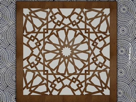 islamic pattern autocad free download arabesque art 3d model 3d printable stl dwg cgtrader com