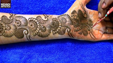 learn easiest henna mehndi design step by step mehendi